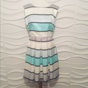 Danny and Nicole Size 8 striped Dress